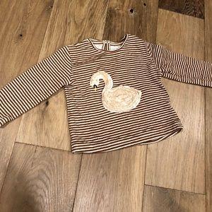 Zara Shirts & Tops - Zara swan shirt
